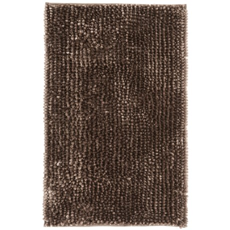 """Aubrey Chenille Noodle BATH RUG- 21X34"""""""" in Taupe"""