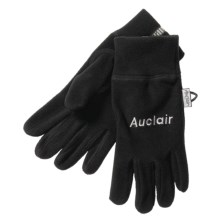 Auclair 4-Way Stretch Fleece Gloves - Recycled Polyester (For Men) in Black - Closeouts