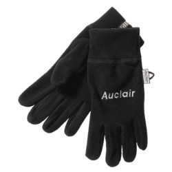Auclair 4-Way Stretch Fleece Gloves - Recycled Polyester (For Men) in Black