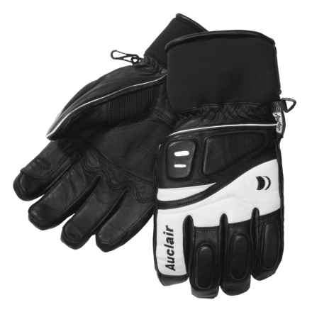 Auclair Adrenaline II Goatskin Ski Gloves - Waterproof, Insulated (For Men) in Black/White - Closeouts