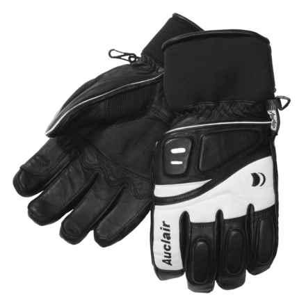 Auclair Adrenaline II Goatskin Ski Gloves - Waterproof, Insulated (For Men) in Black/White - Closeouts