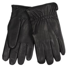 Auclair Alfonso Leather Gloves - Fleece Lined (For Men) in Black - Closeouts