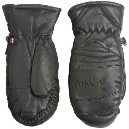 Auclair Amelia Leather Mittens - Waterproof, Insulated (For Women) in Black/Black - Closeouts