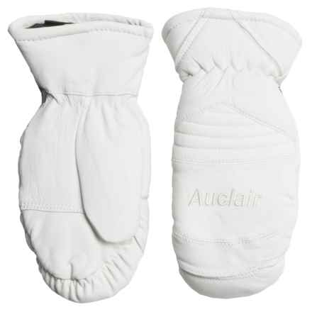 Auclair Amelia Leather Mittens - Waterproof, Insulated (For Women) in White - Closeouts