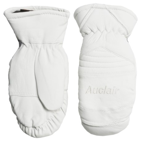 Auclair Amelia Leather Mittens - Waterproof, Insulated (For Women) in White
