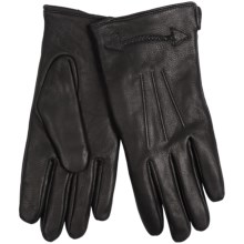Auclair Assembly Gloves - Deerskin, Fleece Lined (For Men) in Black - Closeouts
