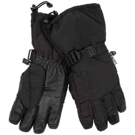 Auclair Back Country Steer Gloves - Waterproof, Insulated (For Men) in Black/Black - Closeouts