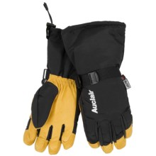 Auclair Back Country Steer Gloves - Waterproof, Insulated (For Men) in Black/Gold - Closeouts