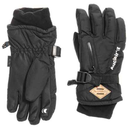 Auclair Breather Zip 2 Gloves - Waterproof, Insulated (For Kids) in Black/Black - Closeouts