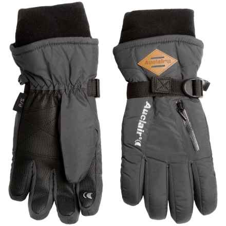 Auclair Breather Zip 2 Gloves - Waterproof, Insulated (For Women) in Charcoal Wool - Closeouts