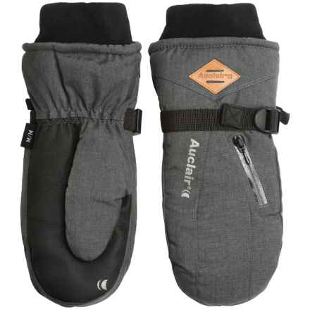 Auclair Breather Zip 2 Mittens (For Men) in Charcoal Wool - Closeouts