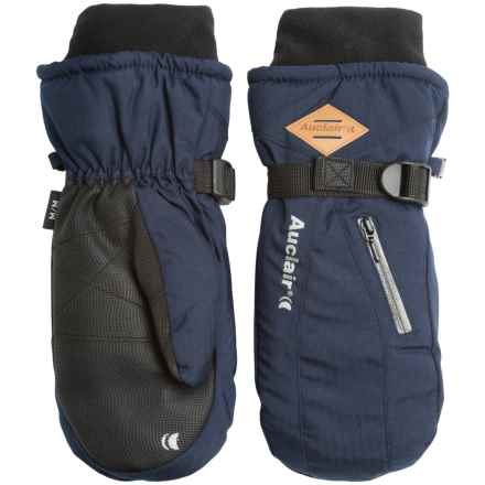 Auclair Breather Zip 2 Mittens (For Men) in Navy Wool - Closeouts