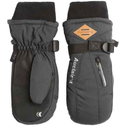 Auclair Breather Zip 2 Mittens - Waterproof, Insulated (For Women) in Charcoal Wool - Closeouts