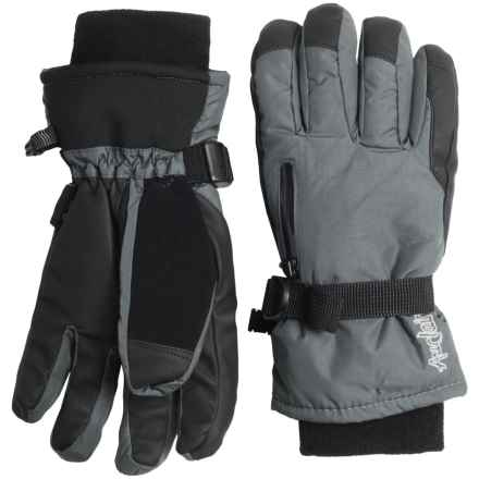 Auclair Breather Zip Gloves - Waterproof, Insulated (For Women) in Charcoal - Closeouts