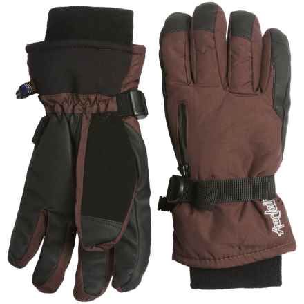 Auclair Breather Zip Gloves - Waterproof, Insulated (For Women) in Dark Brown - Closeouts