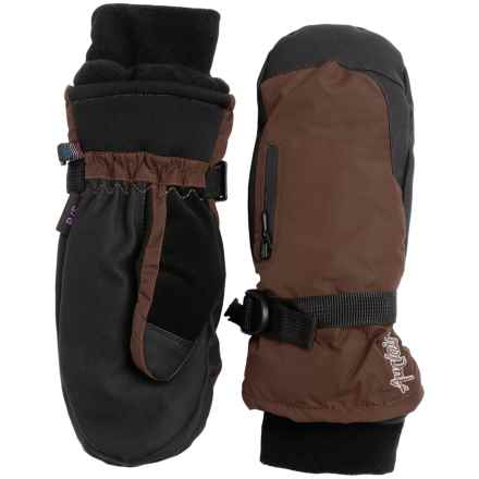 Auclair Breather Zip Mittens - Waterproof, Insulated (For Women) in Dark Brown - Closeouts