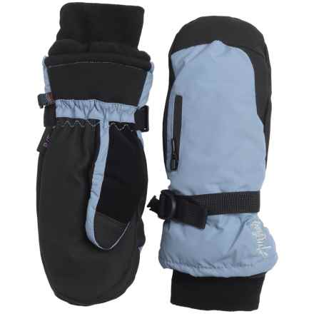Auclair Breather Zip Mittens - Waterproof, Insulated (For Women) in Powder Blue - Closeouts