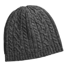 Auclair Cable-Knit Beanie Hat - Merino Wool (For Women) in Charcoal - Closeouts