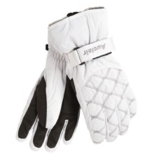 Auclair Chain Ski Gloves (For Women) in White/Silver - Closeouts