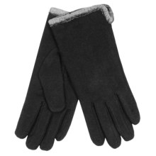 Auclair Classic Gloves - Wool Blend, Fleece Lined (For Women) in Black - Closeouts