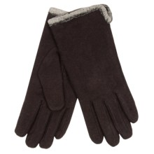 Auclair Classic Gloves - Wool Blend, Fleece Lined (For Women) in Brown - Closeouts