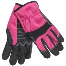 Auclair Colorful Flexer Garden Gloves (For Women) in Black/Pink - Closeouts