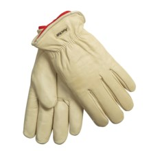 Auclair Cowhide Chore Gloves - Removable Pile Liner (For Men) in Cream - Closeouts
