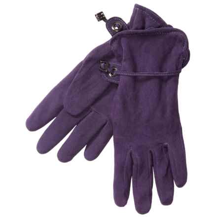 Auclair Deer Suede Gloves - Polyfleece Lining (For Women) in Acai - Closeouts