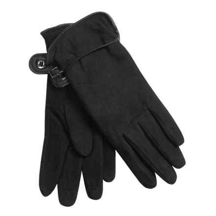 Auclair Deer Suede Gloves - Polyfleece Lining (For Women) in Black - Closeouts