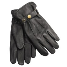 Auclair Deerskin Leather Gloves - Thinsulate® Insulation (For Men)  in Black - Closeouts