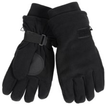 Auclair Double-Lined Fleece Gloves (For Men) in Black - Closeouts