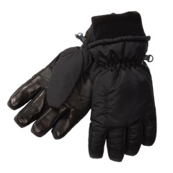 Auclair Duck Down Gloves - Waterproof, Insulated (For Men) in Black