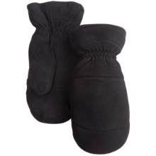 Auclair Elk Suede Mittens - Removable Liner (For Men) in Black - Closeouts