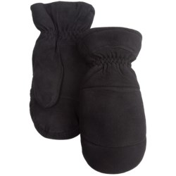 Auclair Elk Suede Mittens - Removable Liner (For Men) in Black
