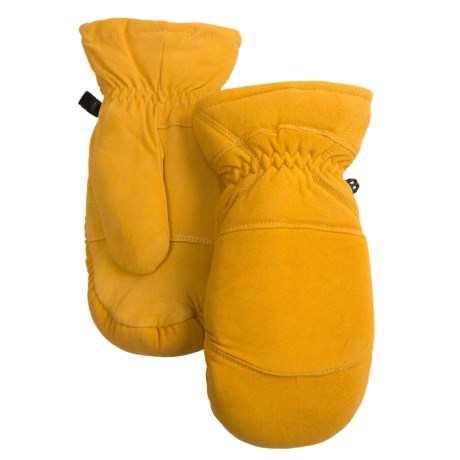 Auclair Elk Suede Mittens - Removable Liner (For Men) in Yukon Gold