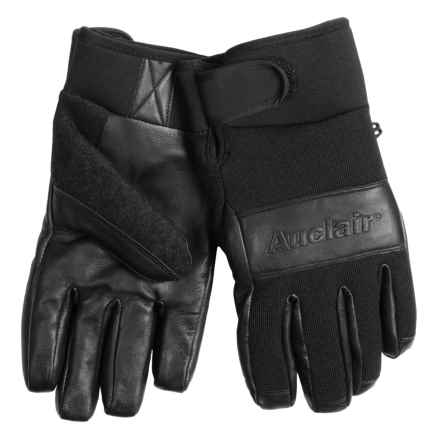 Auclair Embossed Gloves - Waterproof, Insulated (For Men) in Black/Black - Closeouts