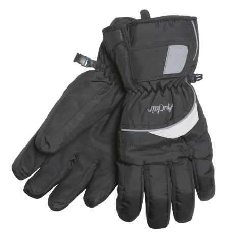 Auclair Flash Gloves - Waterproof, Insulated (For Men and Women) in Black/White