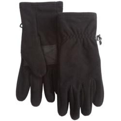 Auclair Fleece Gloves - Windproof, Waterproof (For Men) in Black/Black