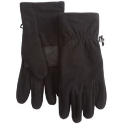 Auclair Fleece Gloves - Windproof, Waterproof (For Men) in Black/Black