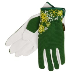 Auclair Garden Gloves - Water Repellent (For Women) in Green/White Graphic