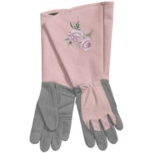 Auclair Gauntlet Gloves - Leather (For Women) in Grey/Rose - Closeouts