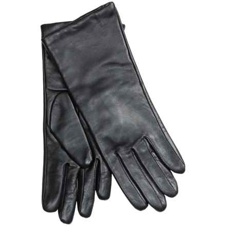 Auclair Glace Leather Gloves - Cashmere Lining (For Women) in Black - Closeouts