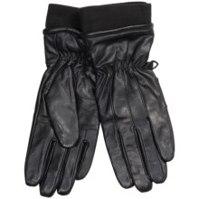 Auclair Glace Leather Gloves - Fleece-Lined (For Women) in Black - Closeouts