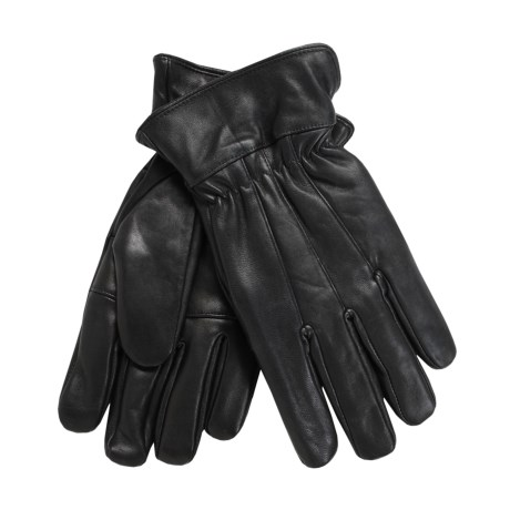 Auclair Goatskin Gloves - Thinsulate®, Palm Patch (For Men) in Black