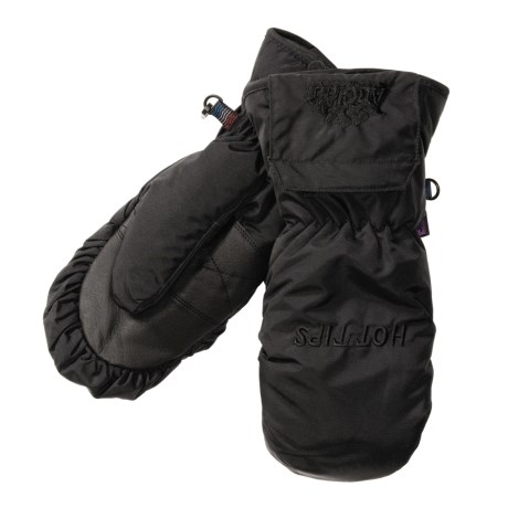 Auclair Heated Mittens - Waterproof, Insulated (For Women) in Black/Black Logo