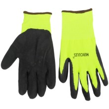 Auclair Hercules Latex-Coated Work Gloves (For Men) in Black/Yellow - Closeouts