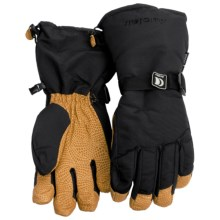 Auclair High Country Down Gloves - Insulated (For Men and Women) in Black/Gold - Closeouts