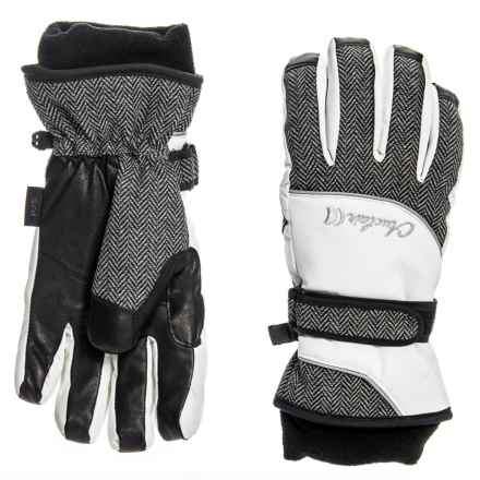 Auclair Hourglass Gloves - Waterproof, Insulated (For Women) in White/Herringbone - Closeouts