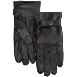 Auclair Leather Gloves (For Men) in Black