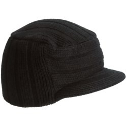 Auclair Logo Sargent Beanie Hat - Brim (For Men) in Black